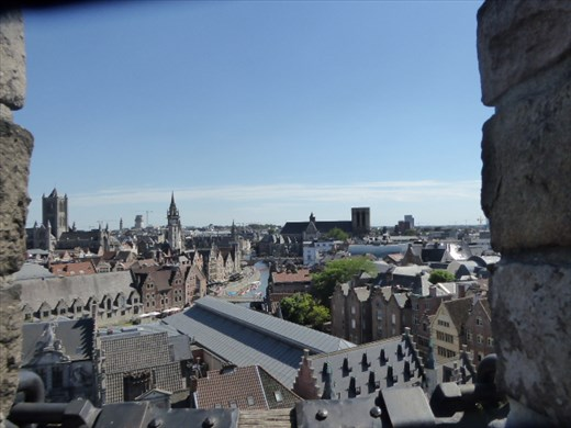 View of Ghent from the castle