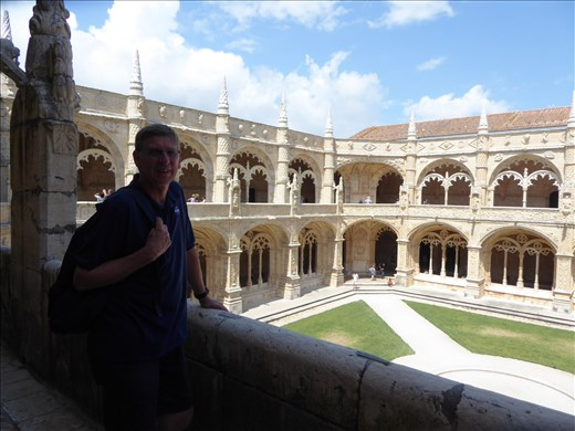 Ian at the Jerominos monastery