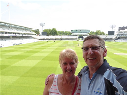 Us on the actual players balcony at Lords