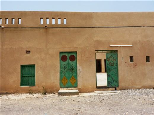A typical Omani family home in a village close to the barrier lake we visited. It's beauty is it's simplicity and the colour composition.