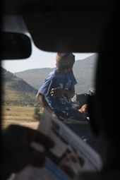 Waiting for roadworks on our way to view Blyde River Canyon. The driver promtly turned off the engine and started reading his newspaper. The pick up truck in front had about 8 people sitting in the back. : by evelwoman84, Views[153]