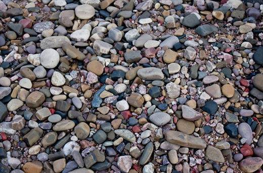 Stones and Pebbles at the Raneh Falls, Canyon area on the banks of Ken river inside the Panna National Park.