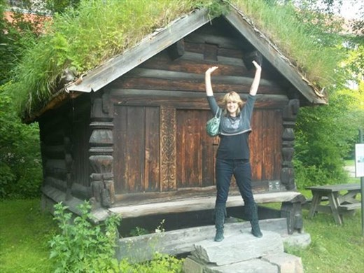 At the Norwegian Folk Museum - I highly recommend visiting this museum!