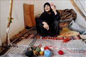 An 88 years old Qash'qai nomad lady makes gabbeh as she had done for many years for a living in Shiraz, Fars province, Iran. This is a painstaking task by hand and is also becoming a disappearing traditional trade as machine takes over.: by eyeofzann, Views[1026]
