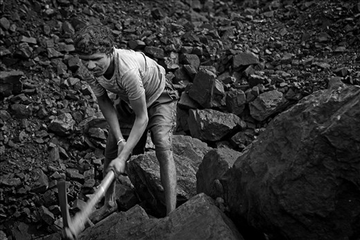 The only economic activity is mining or scavenge coal illegally.