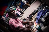 Muthukumara, the cobbler, says mending shoes is the only job he has ever done. Although the trade has been in the family for three generations, he hopes it ends with him. He wants his three daughters to find good jobs that, hopefully, pay more than the Rs. 1000 (US$8) he makes in a day.: by fahad_farook, Views[216]