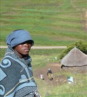 Teboho, a young herdsman from the same village as Makalo, is wrapped in the traditional Basotho blanket. He is the eldest grandchild and the family breadwinner. He begins his day leaving his siblings, their grandmother, who is their sole caretaker and the little hut they all share behind. : by faizafarah, Views[193]