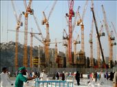 Saudi Arabia's dependence on cheap foreign labour means that The Makkah Development Plan, at a cost of 26.6bn, is being constructed by the thousands of men hailing from South Asia.  Construction tends to break in the daytime due to the intense Arabian heat. : by fatemanak, Views[721]