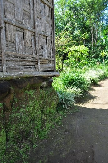 Foundations - The simplicity of a Balinese shack, inginuity at its best.