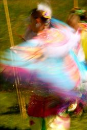 Indian dancer, Knife River SD (blur is intentional!): by fieldnotes, Views[225]