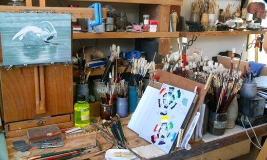 Tools of the trade, Tim Mayhew studio, Farmington, NM