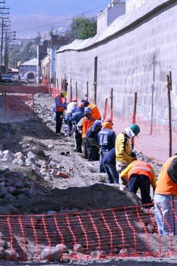 Street work, Arequipa