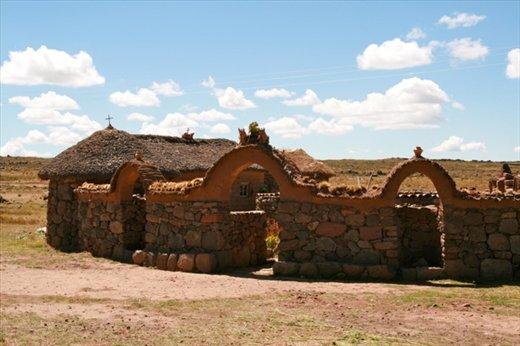 Inca style homes near Sillustani