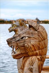 Figureheads on reed boat, floating islands Uros: by fieldnotes, Views[267]