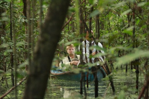 Canoeing through the flooded forest, Muyuna Lodge