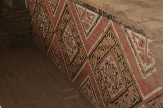 2000 year old colors, Temple of the Moon, Trujillo
