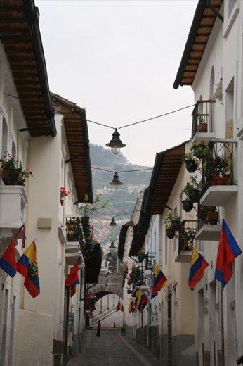 Colonial balconies, Quito
