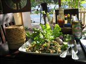 Laap, sticky rice, Beer Lao = lunch: by fimc, Views[290]