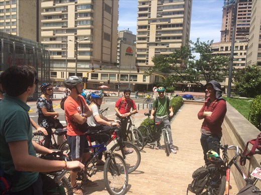 Bike tour of Bogota with Mike