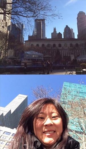 My 1st FrontBack at Bryant Park! I manage the double chin now ;-) lol