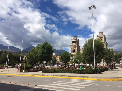 Plaza de Armas, Huaraz. As promised, a picture of Plaza de Armas in every town we go to!