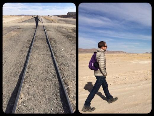 Les deux photos qui arrivent devraient être au début de cette série de photos. Petite erreur, oups. Donc ici c'était sur la route pour le cimetière des trains à 3kms de Uyuni.