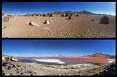Le rouge de la lagune (Laguna Colorada encore) est dû à une algue. Le blanc est du sel mais on dirait de la neige. : by finally, Views[180]