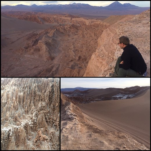More of the Moon Valley. Yep, there are even sand dunes! Great climb up. Top photo is the Death Valley, a sub valley of the Moon Valley.
