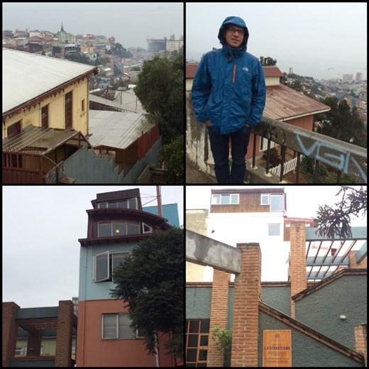 D'autres vues de Valpo, y compris les deux en bas qui sont la maison appelée La Sebastiana du poète Pablo Neruda. Très intéressant, la visite nous a appris beaucoup de détails de sa vie quotidienne.