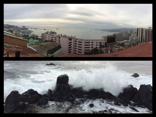 Belles vues de la mer. On comprend bien pourquoi cette ville a tellement inspiré le poète Pablo Neruda.