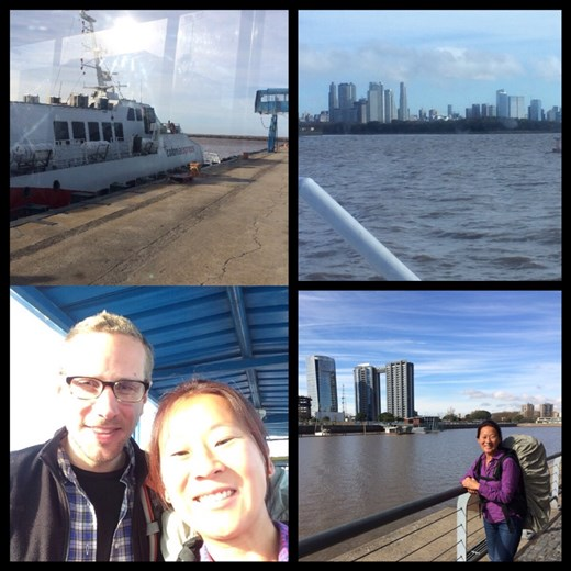 Taking the boat back to Buenos Aires! We were so happy to go back!