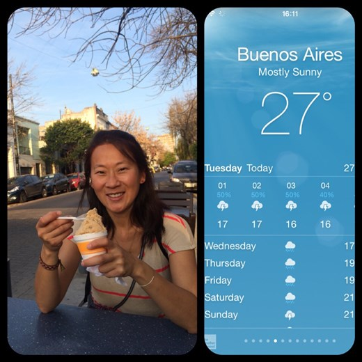 Love the winter in Buenos Aires!!! :-)