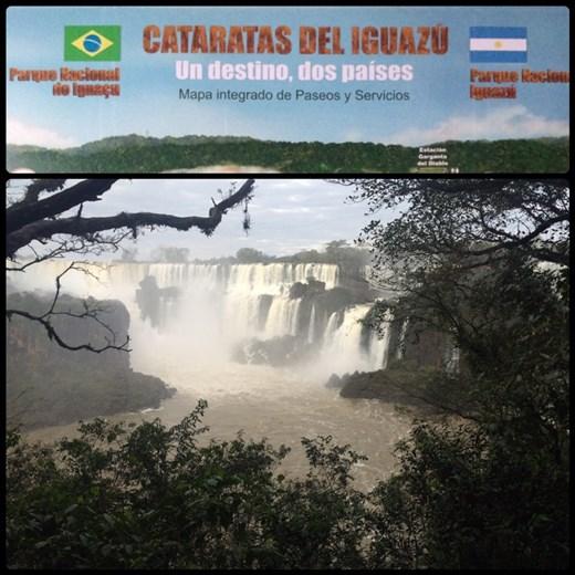 Les chutes d'Iguazu se trouvent sur le territoire argentin et brésilien. Photo du côté argentin.