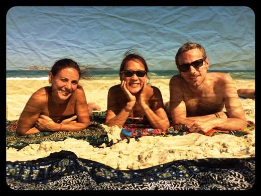 With Johanna on Ipanema beach
