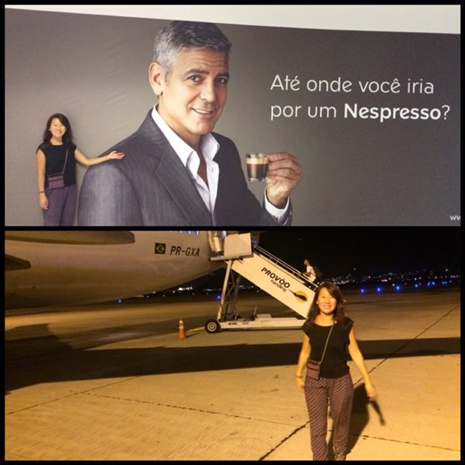 George Clooney is also at the Rio airport. Flying to Salvador de Bahia saved us a 32h bus ride.