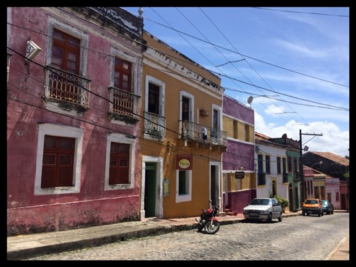 Colorful houses in Olinda