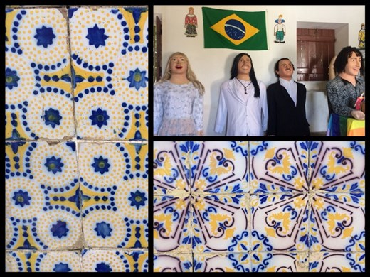 Love the azulejos- Portuguese tiles on the houses. The