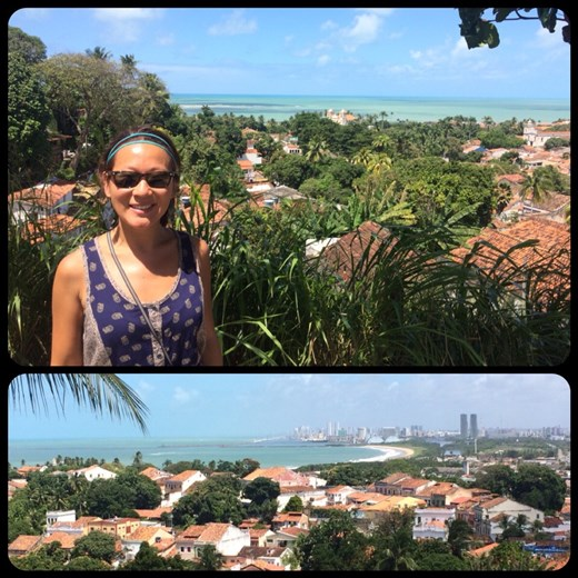 You can see Recife, the modern city, from Olinda
