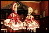 Kathakali (Malayalam: കഥകളി, kathakaḷi; Sanskrit: कथकळिः, kathākaḷiḥ) is a stylized classical Indian dance-drama noted for the attractive make-up of characters, elaborate costumes, detailed gestures and well-defined body movements presented in tune with the anchor playback music and complementary percussion.: by finally, Views[632]