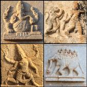 Sculptures très bien conservées dans certains temples du site de Hampi. : by finally, Views[163]