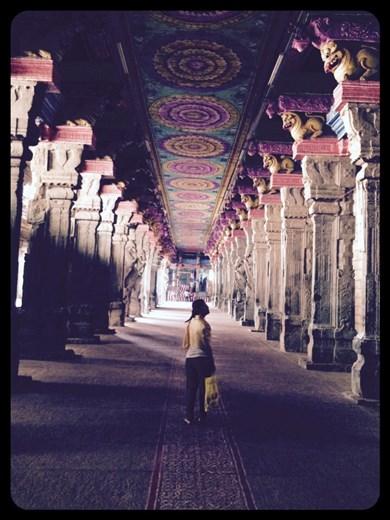A l'intérieur d' un temple