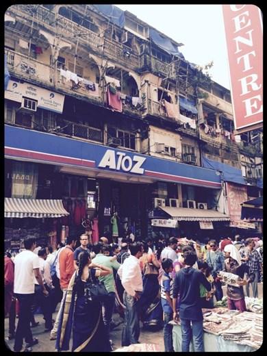 Kurt, lost in the crowds of the Mumbai street markets. Where's Waldo?