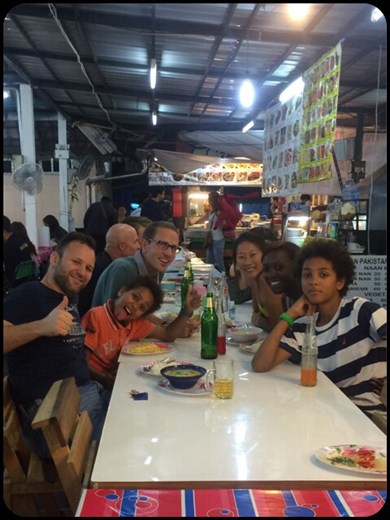 First dinner with Christine and co. At the night market in Chiang Mai.
