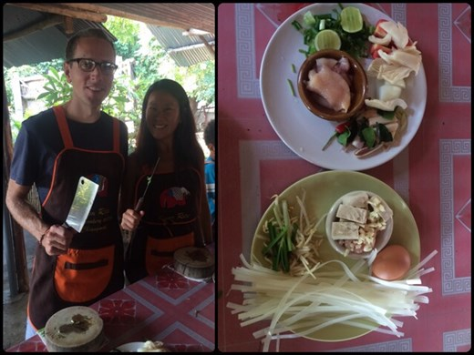 Thai cooking class. We learned to cook 4 different meals and we ate them all!