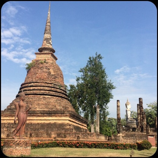 We visited Sukhothai by bike since the this Siam kingdom was very spread out.