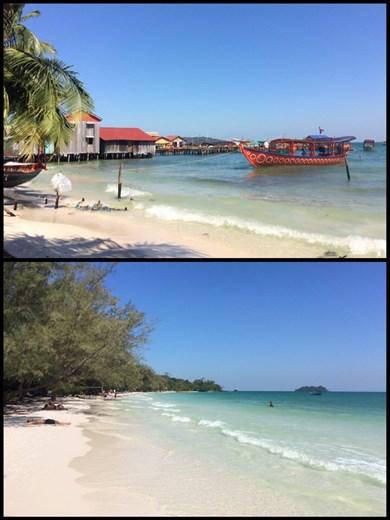 Farniente sur l'Île de Koh Rong après le nouvel an.