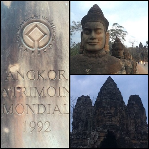 Angkor Wat, UNESCO World Heritage Site. It is a temple complex and the largest religious monument in the world.