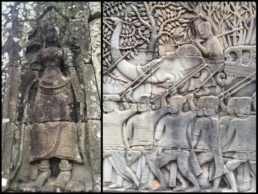 Detailed and well preserved carvings and bas reliefs.