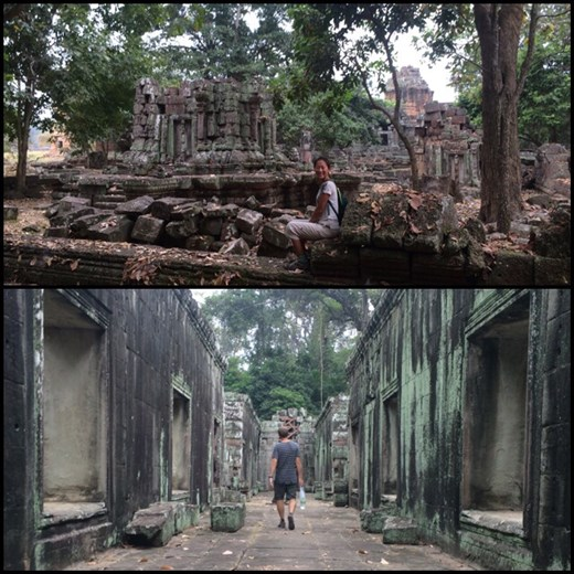Wandering through the Angkor temples.