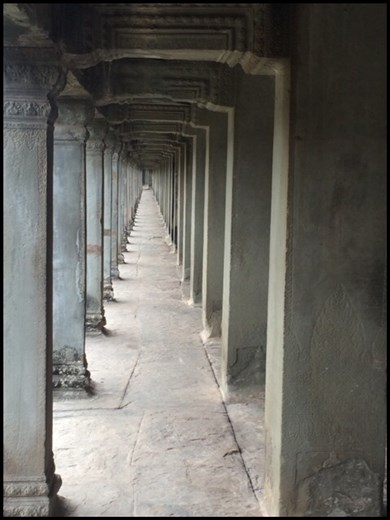 Long galleries are typical of Angkor architecture.